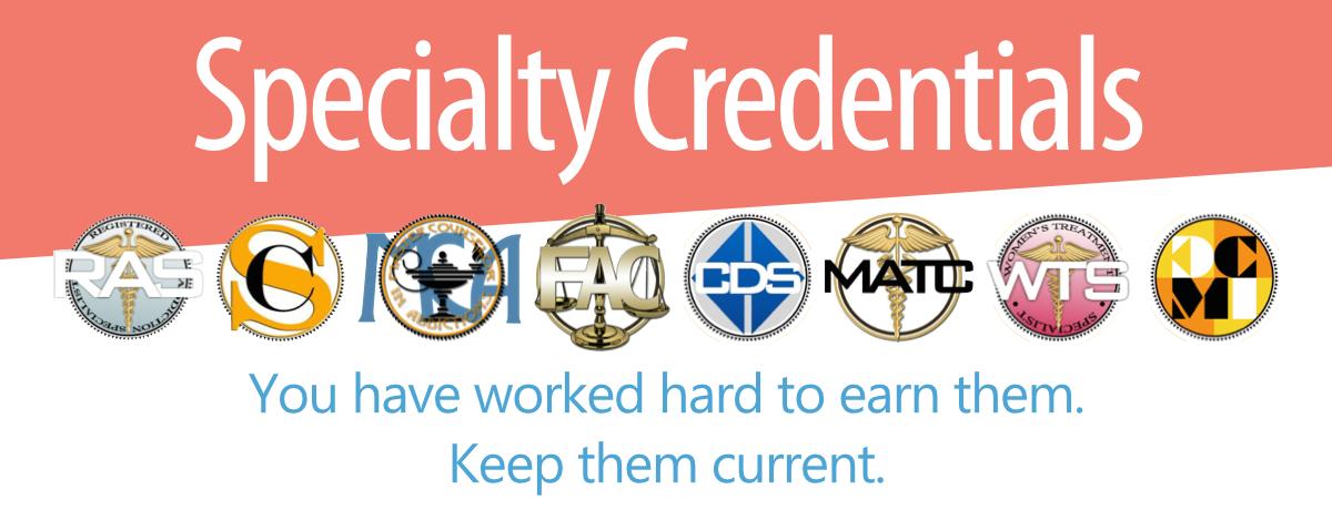Breining Institute Specialty Credentials Renewal